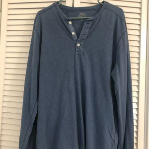 J. Crew Garment-dyed Slub Cotton Henley